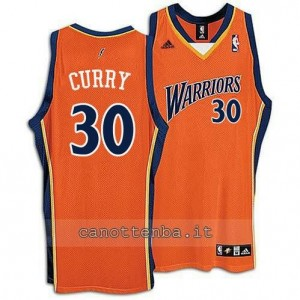 maglia stephen curry #30 golden state warriors arancia