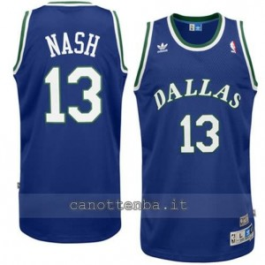 maglia steve nash #13 dallas mavericks swingman blu