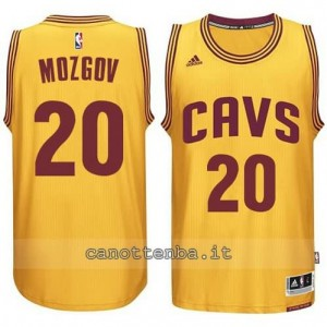 maglia timofey nozgov #20 cleveland cavaliers 2014-2015 giallo