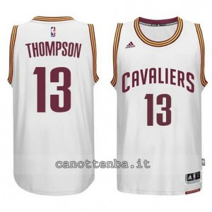 maglia tristan thompson #13 cleveland cavaliers 2014-2015 bianca