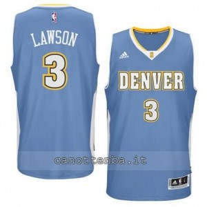 maglia ty lawson #3 denver nuggets 2014-2015 blu