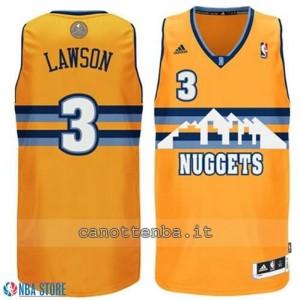 maglia ty lawson #3 denver nuggets revolution 30 giallo