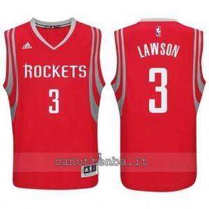maglia ty lawson #3 houston rockets 2014-2015 rosso