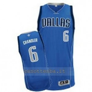 maglia tyson chandler #6 dallas mavericks revolution 30 blu