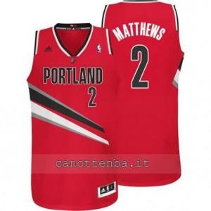 maglia wesley matthews #2 portland trail blazers revolution 30 rosso