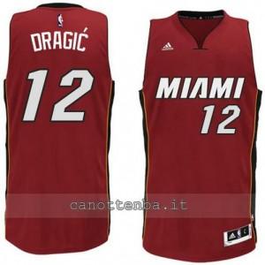 maglia zoran dragic #12 miami heat 2014-2015 rosso