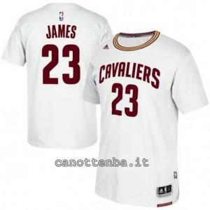 maglietta LeBron james #23 cleveland cavaliers bianca