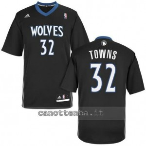 maglietta anthony towns #32 minnesota timberwolves nero