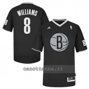 maglietta deron williams #8 brooklyn nets nero