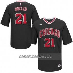 maglietta jimmy butler #21 chicago bulls nero