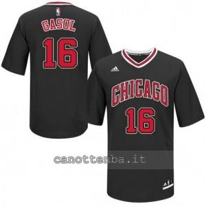 maglietta pau gasol #16 chicago bulls nero