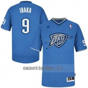 maglietta serge ibaka #9 oklahoma city thunder blu