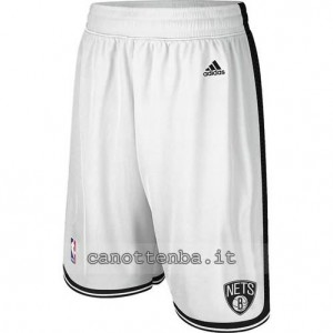 pantaloncini nba brooklyn nets bianca