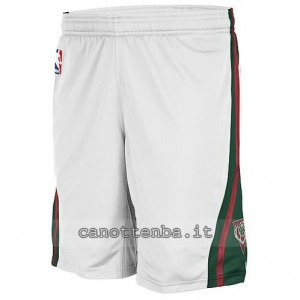 pantaloncini nba milwaukee bucks bianca