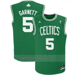 canotte #5 kevin garnett boston celtics revolution 30 verde