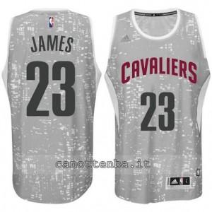 canotte LeBron james #23 cleveland cavaliers lights grigio