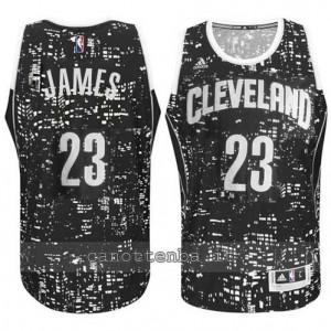 canotte LeBron james #23 cleveland cavaliers lights nero