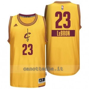 canotte LeBron james #23 cleveland cavaliers natale 2014 giallo