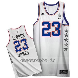 canotte LeBron james nba all star 2015 bianca