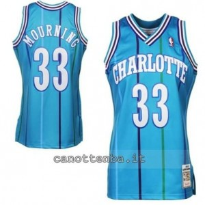 canotte alonzo mourning #33 charlotte hornets retro