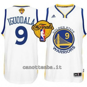 canotte andre iguodala #9 golden state warriors finale 2015 bianca