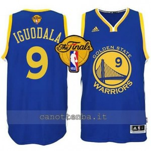 canotte andre iguodala #9 golden state warriors finale 2015 blu