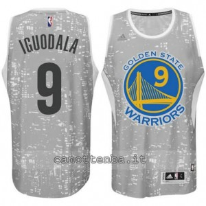 canotte andre iguodala #9 golden state warriors lights grigio