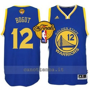 canotte andrew bogut #12 golden state warriors finale 2015 blu