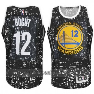 canotte andrew bogut #12 golden state warriors lights nero