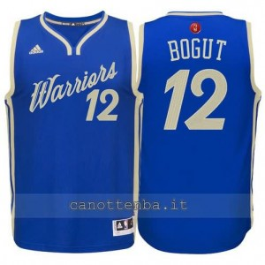canotte andrew bogut #12 golden state warriors natale 2015 blu