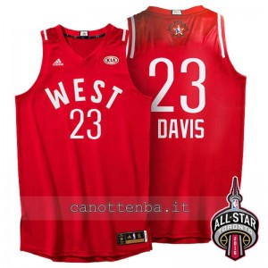 canotte anthony davis #23 nba all star 2016 rosso