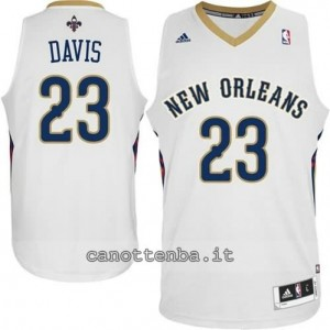 canotte anthony davis #23 new orleans pelicans 2014-2015 bianca