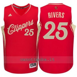 canotte austin rivers #25 los angeles clippers natale 2015 rosso