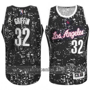 canotte blake griffin #32 los angeles clippers lights nero