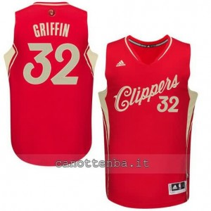 canotte blake griffin #32 los angeles clippers natale 2015 rosso