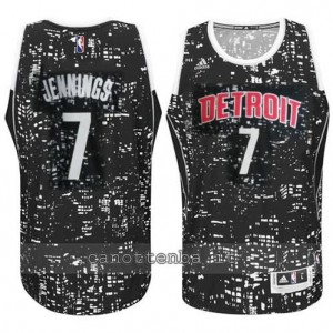canotte brandon jennings #7 detroit pistons lights nero