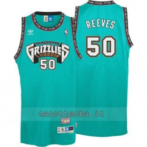 canotte bryant reeves #50 vancouver grizzlies blu