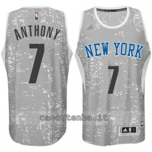 canotte carmelo anthony #7 new york knicks lights grigio