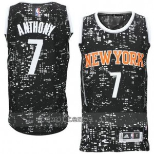 canotte carmelo anthony #7 new york knicks lights nero