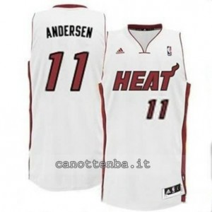 canotte chris andersen #11 miami heat revolution 30 bianca