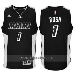 canotte chris bosh #1 miami heat 2014-2015 nero