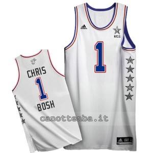 canotte chris bosh #1 nba all star 2015 bianca