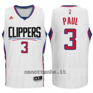 canotte chris paul #3 los angeles clippers 2015-2016 bianca