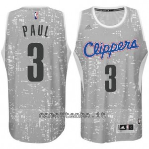 canotte chris paul #3 los angeles clippers lights grigio
