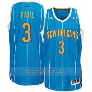 canotte chris paul #3 new orleans hornets revolution 30 blu