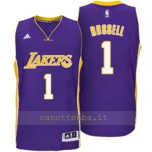 canotte d'angelo russell #1 los angeles lakers 2014-2015 porpora