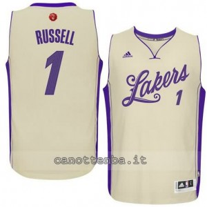 canotte d'angelo russell #1 los angeles lakers natale 2015 giallo