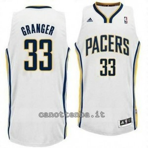 canotte danny granger #33 indiana pacers revolution 30 bianca