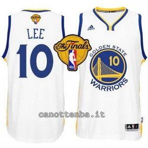 canotte david lee #10 golden state warriors finale 2015 bianca