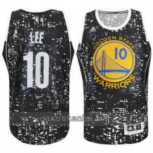 canotte david lee #10 golden state warriors lights nero